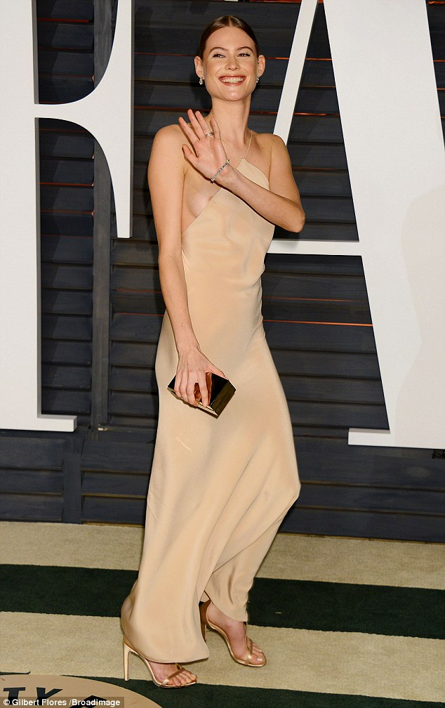 Behati Prinsloo at Oscars (Gilbert Flores/Broadimage)