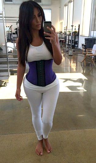kim kardashian corset